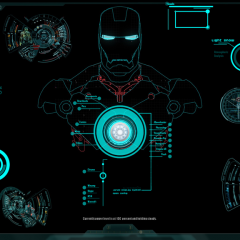 Jarvis Ironman Rainmeter Windows Theme with Voice Commands